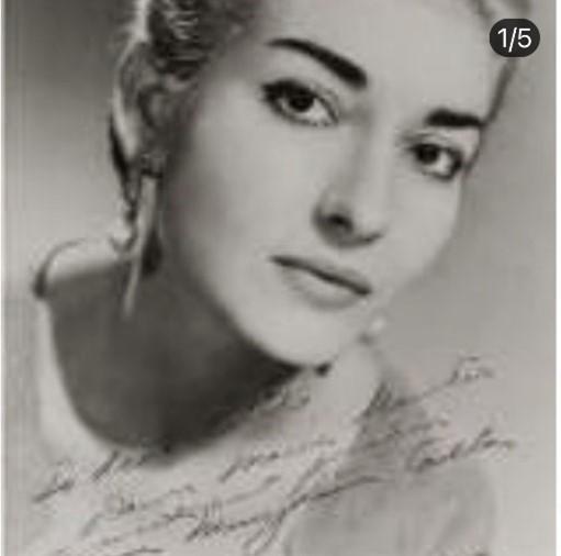 Autografo de Maria Callas