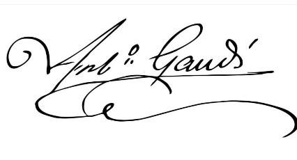 Firma Antoni Gaudi