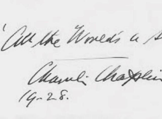 Análisis Grafólogico de Charles chaplin