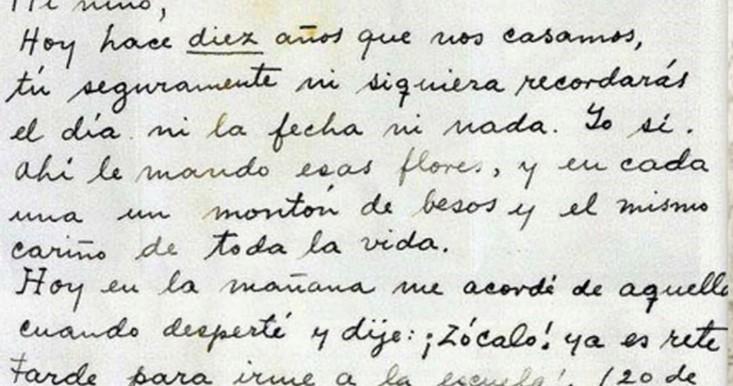 Extracto de una carta de Frida Khalo a Diego para su décimo cumpleaños